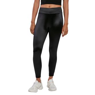 kalhoty dámské (legíny) URBAN CASSICS - Shiny High Waist Leggings - black, URBAN CLASSICS