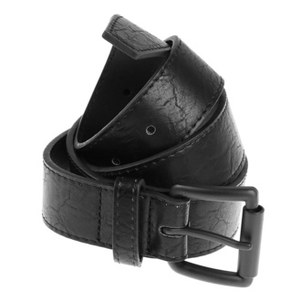 pásek URBAN CLASSICS - Marmorized PU Leather - black/black, URBAN CLASSICS