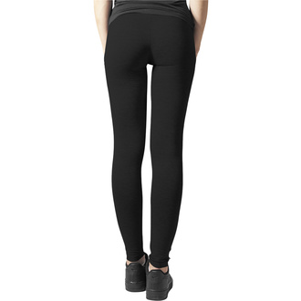 kalhoty dámské (legíny) URBAN CLASSICS - Jersey Leggings - black, URBAN CLASSICS