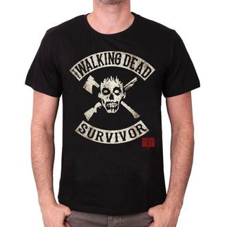 tričko pánské Walking Dead - SURVIVOR - BLACK - LEGEND - MEWALKDTS001