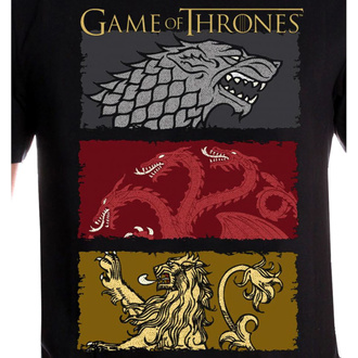 tričko pánské Game of thrones - THE HOUSES OF THE KING - BLACK - LEGEND, LEGEND, Game of thrones