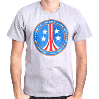 tričko pánské ALIEN - US MARINE COLONIAL CORPS - GREY MELANGE - LEGEND, LEGEND, Alien - Vetřelec