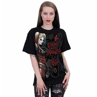 tričko unisex SPIRAL - Harley Quinn - EMBRACE MADNESS - Black, SPIRAL