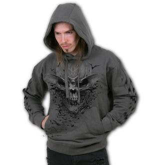 mikina pánská SPIRAL - BAT SKULL - Charcoal, SPIRAL