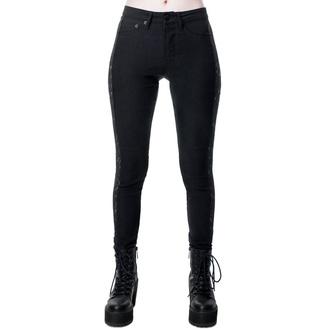kalhoty dámské KILLSTAR - Vanquish Jeans - BLACK - KSRA001525