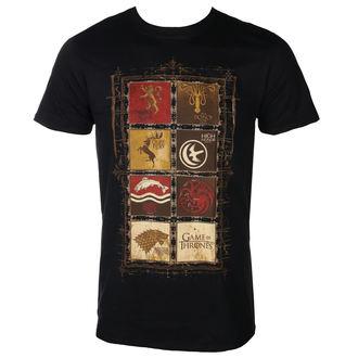 tričko pánské Game of thrones - BLOCK SIGILS - PLASTIC HEAD - PH10611