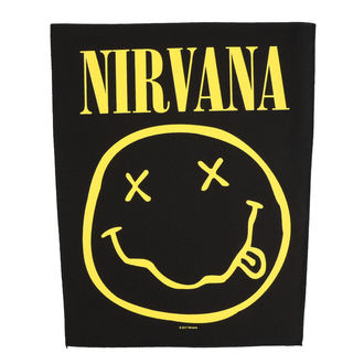 nášivka velká Nirvana - Smiley - RAZAMATAZ, RAZAMATAZ, Nirvana