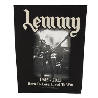 nášivka velká Motörhead - Lemmy - Lived To Win - RAZAMATAZ, RAZAMATAZ, Motörhead