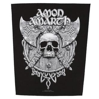 nášivka velká AMON AMARTH - SKULL AND AXES - RAZAMATAZ, RAZAMATAZ, Amon Amarth