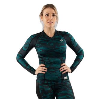 tričko dámské s dlouhým rukávem (termo) VENUM - Defender - Rashguard - Black/Green - VENUM-03827-102