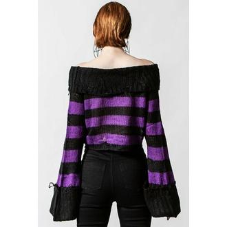 svetr dámský KILLSTAR - Veruca Salt Knit - Black/Plum - KSRA004135