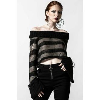 svetr dámský KILLSTAR - Visage Knit - Black/Ash - KSRA004136