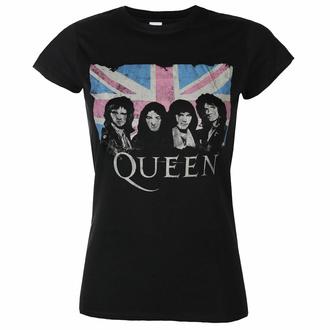 tričko dámské Queen - Packaged Union Jack - Black - ROCK OFF, ROCK OFF, Queen