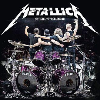 kalendář na rok 2019 - METALLICA, Metallica