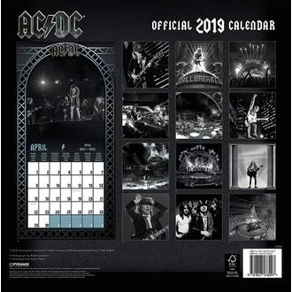 kalendář na rok 2019 AC/DC, NNM, AC-DC