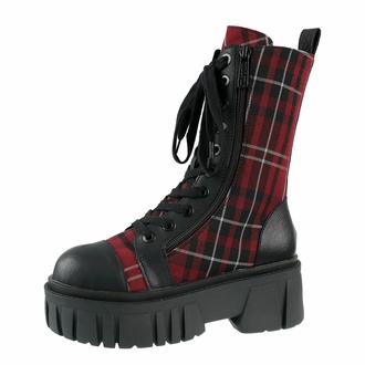 boty KILLSTAR - Kick The Bucket Boots - BLOOD TARTAN, KILLSTAR