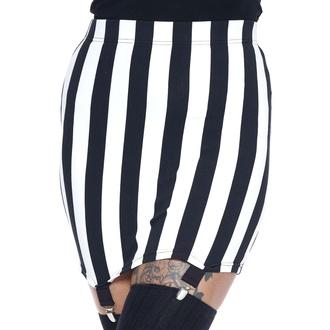sukně dámská KILLSTAR - Walk The Line Mini - Stripe, KILLSTAR
