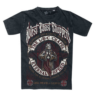 tričko pánské WEST COAST CHOPPERS - THE CHAPEL - Antrachite Vintage Black, West Coast Choppers