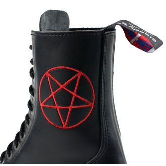 boty STEADY´S - 10 dírkové - Pentagram red - STE/10/H_pentagram red