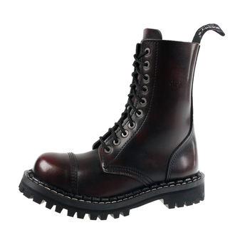 boty STEADY´S - 10 dírkové - Bordo black, STEADY´S