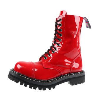 boty STEADY´S - 10 dírkové - Glossy red, STEADY´S