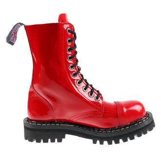 boty STEADY´S - 10 dírkové - Glossy red - STE/10_glossy red