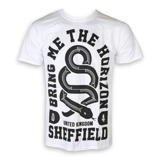tričko pánské Bring Me The Horizon - Snake Men - White - ROCK OFF, ROCK OFF, Bring Me The Horizon
