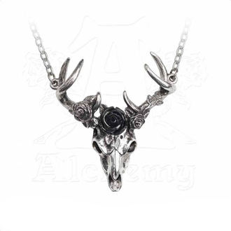 obojek ALCHEMY GOTHIC - White Hart Black Rose, ALCHEMY GOTHIC