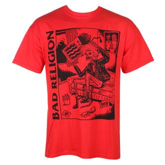 tričko pánské Bad Religion - Television - Red - KINGS ROAD, KINGS ROAD, Bad Religion