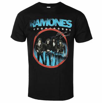 tričko pánské Ramones - Circle Photo - Black - ROCK OFF, ROCK OFF, Ramones