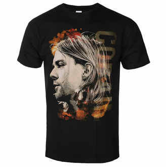 tričko pánské NIRVANA - Kurt Cobain - Coloured Side View - Black - ROCK OFF, ROCK OFF, Nirvana