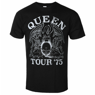 tričko pánské Queen - Tour '75 BL ECO - ROCK OFF, ROCK OFF, Queen