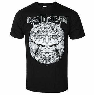 tričko pánské Iron Maiden - Samurai Graphic - White BL - ROCK OFF, ROCK OFF, Iron Maiden