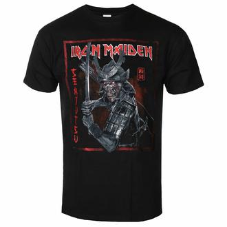tričko pánské Iron Maiden - Senjutsu Cover Distressed - Red BL - ROCK OFF, ROCK OFF, Iron Maiden