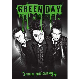 kalendář na rok 2019 - GREEN DAY, Green Day