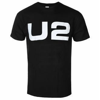 tričko pánské U2 - Logo - Black - ROCK OFF, ROCK OFF, U2