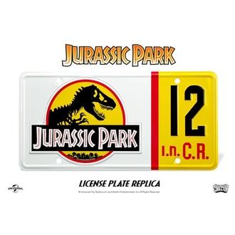 cedule Jurassic Park - Replica 1/1 Dennis Nedry License Plate, NNM, Jurský park