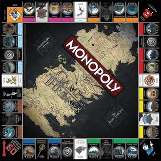 hra Game of Thrones - Monopoly Collectors Edition - English Version, NNM, Game of thrones