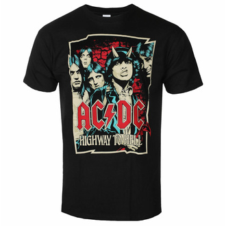 tričko pánské AC/DC Highway To Hell - Sketch - Black - ROCK OFF, ROCK OFF, AC-DC