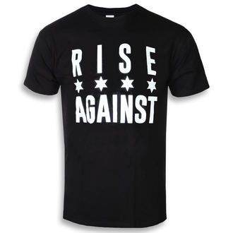 tričko pánské Rise Against - Chicago Flag White - Black - KINGS ROAD, KINGS ROAD, Rise Against