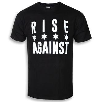 tričko pánské Rise Against - Chicago Flag White - Black - KINGS ROAD, KINGS ROAD, Rise Against
