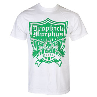 tričko pánské Dropkick Murphys - Gun Shield - White - KINGS ROAD, KINGS ROAD, Dropkick Murphys