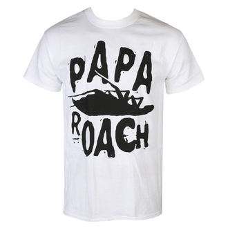 tričko pánské Papa Roach - Classic Logo - White - KINGS ROAD, KINGS ROAD, Papa Roach
