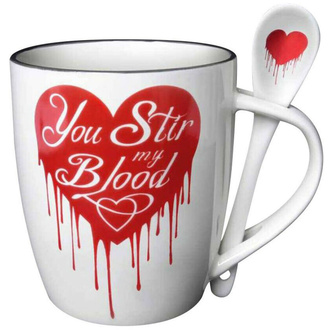 hrnek se lžičkou ALCHEMY GOTHIC - You Stir My Blood, ALCHEMY GOTHIC