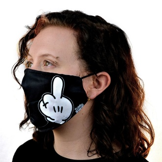 rouška (maska) CUPCAKE CULT - YUCK FOU - BLACK, CUPCAKE CULT