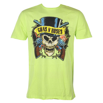 tričko pánské Guns N' Roses - DEATH SKULL - OCEAN COLOUR GREEN - AMPLIFIED - ZAV210DSX