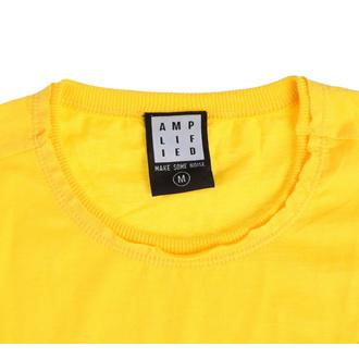 tričko pánské QUEEN - LINE ART CREST - YELLOW RAVEN - AMPLIFIED, AMPLIFIED, Queen