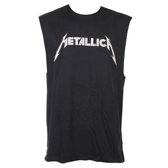tílko unisex Metallica - White Logo - CHARCOAL - AMPLIFIED - ZAV804MHC