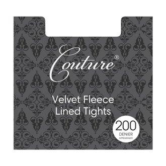 punčocháče LEGWEAR - Fashion velvet fleece lined - Black, LEGWEAR