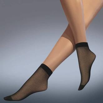 ponožky (punčochové) LEGWEAR - fishnet ankle highs - black, LEGWEAR